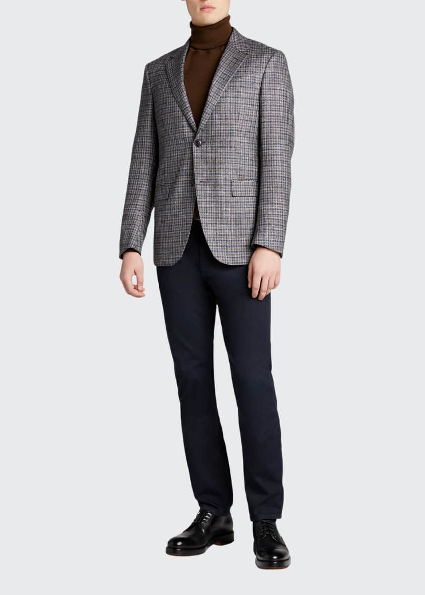 Ermenegildo Zegna Men's Check Wool-Blend Sport Jacket