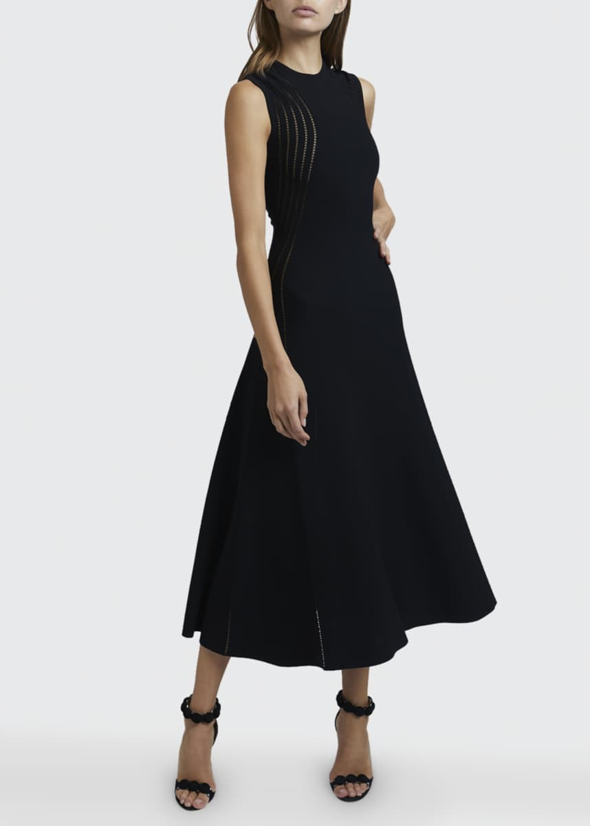 ALAIA Sheer-Seamed A-Line Dress