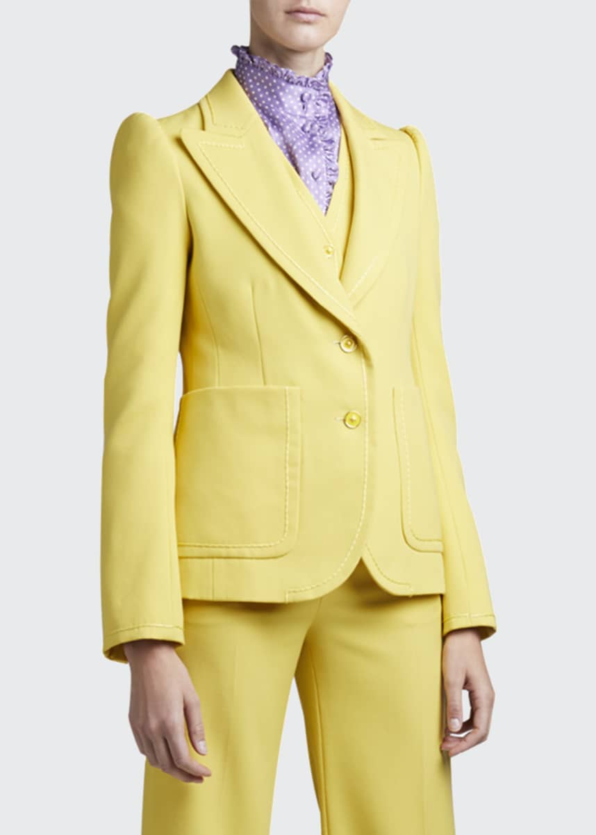Marc Jacobs (Runway) Fitted Puff-Sleeve Blazer