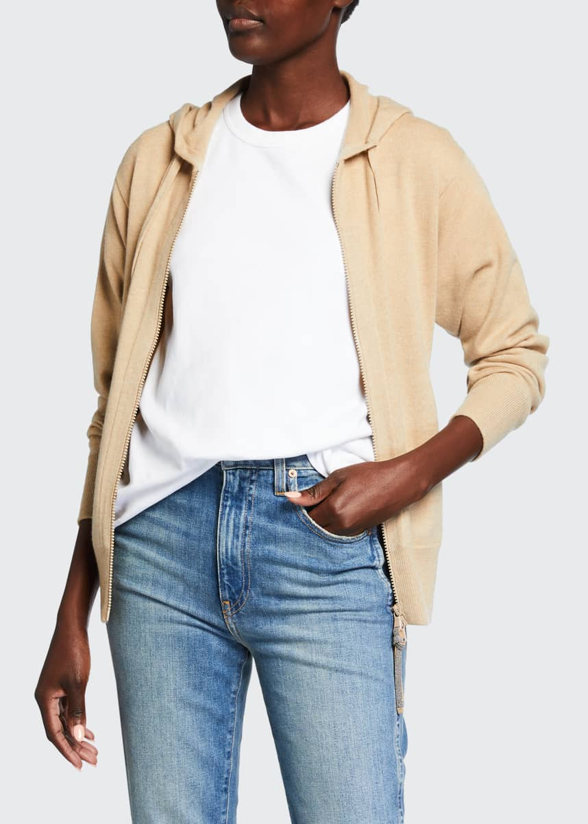Brunello Cucinelli Cashmere Ribbed Zip-Font Jacket