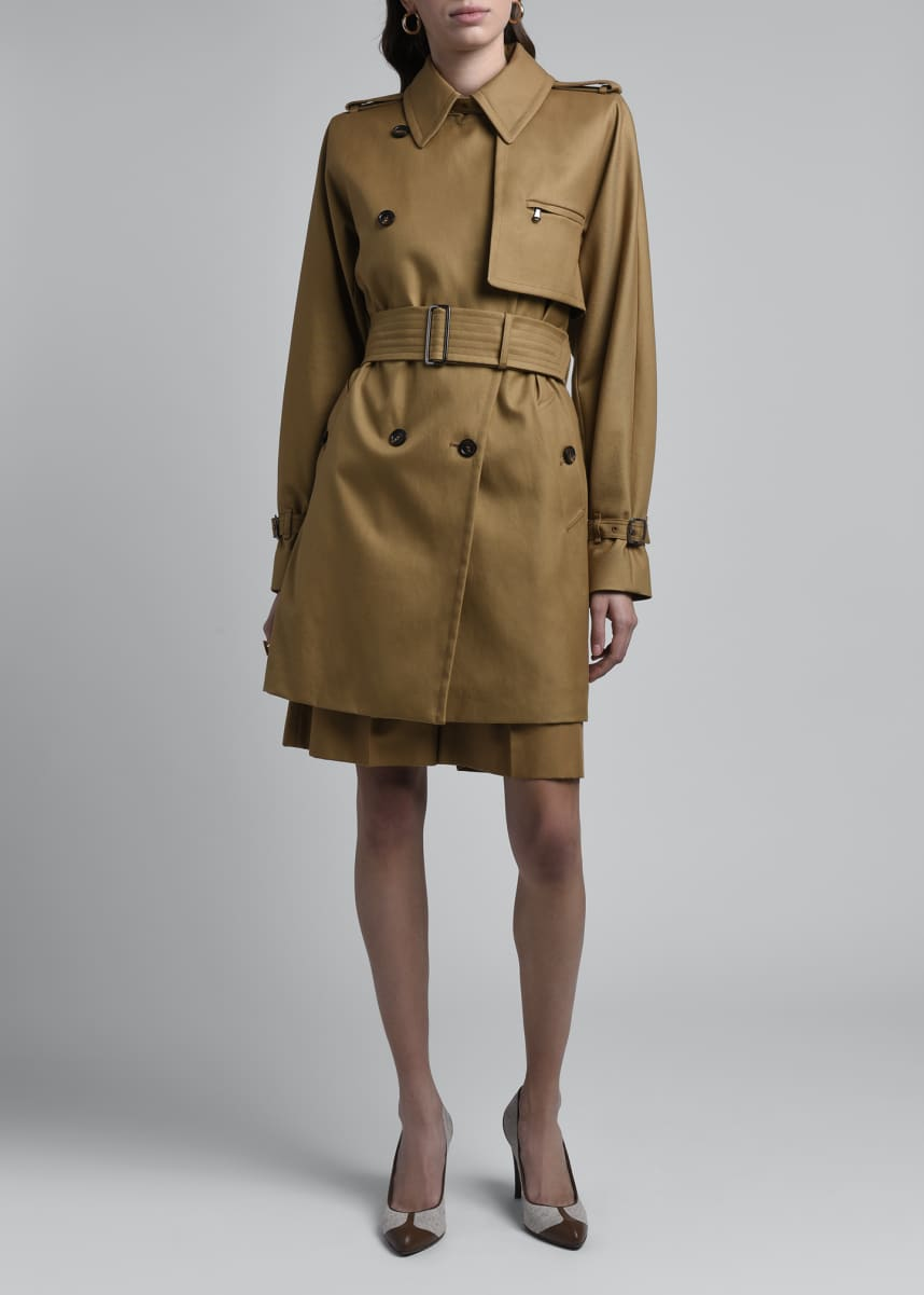 Maxmara Attuale Belted Cotton Trench Coat