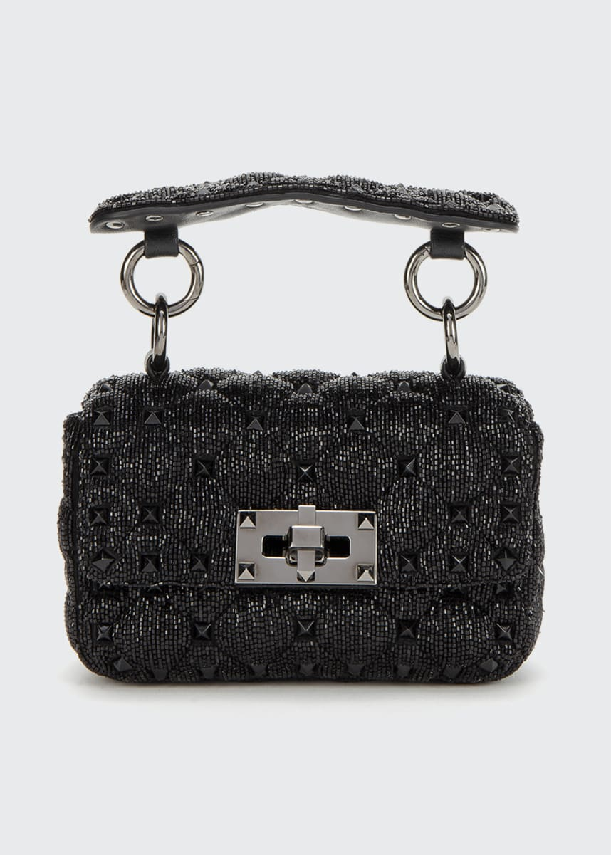Valentino Garavani Spike.It Micro Rockstud Shining Silk Shoulder Bag