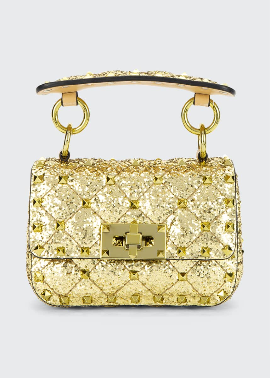 Valentino Garavani Spike.It Micro Rockstud Glitter Shoulder Bag