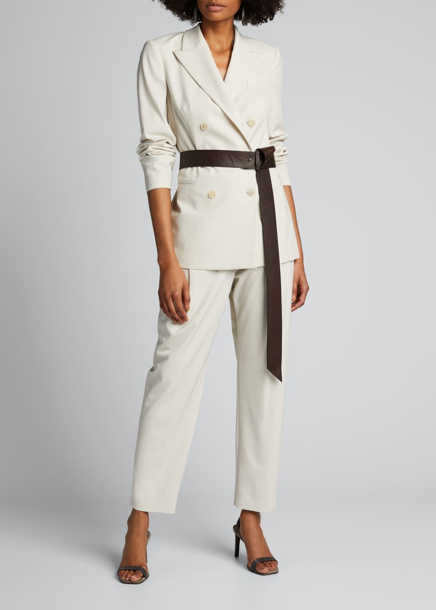 Brunello Cucinelli Couture Gabardine Pleated Pants