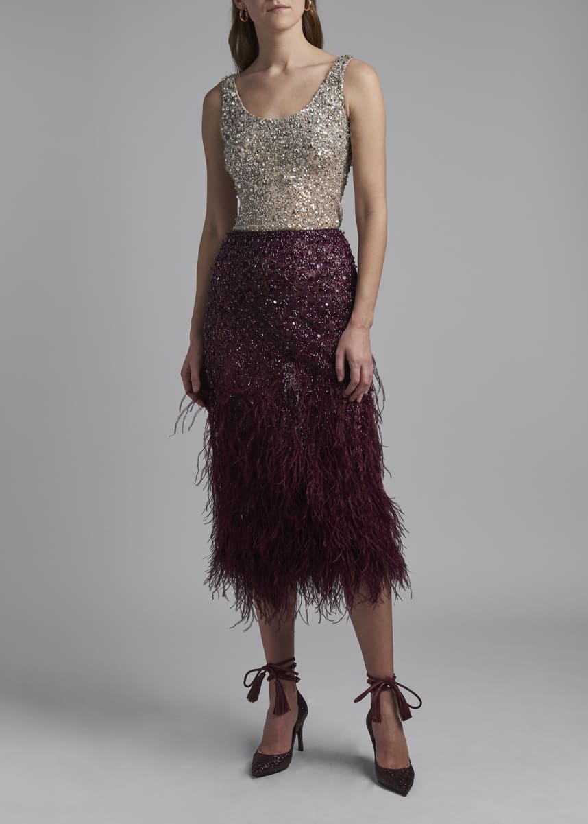 Valentino Sequined Tulle Tank Top