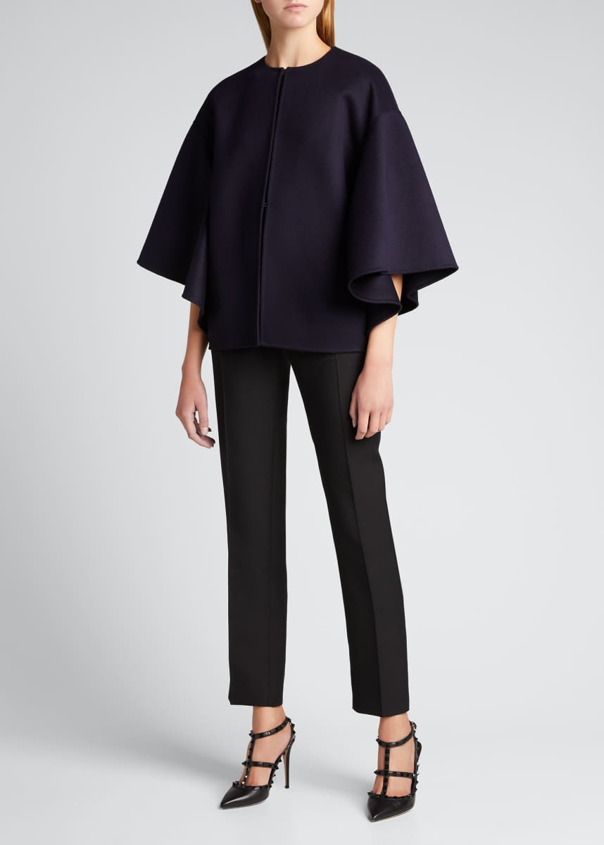 Valentino Wool Short Cape