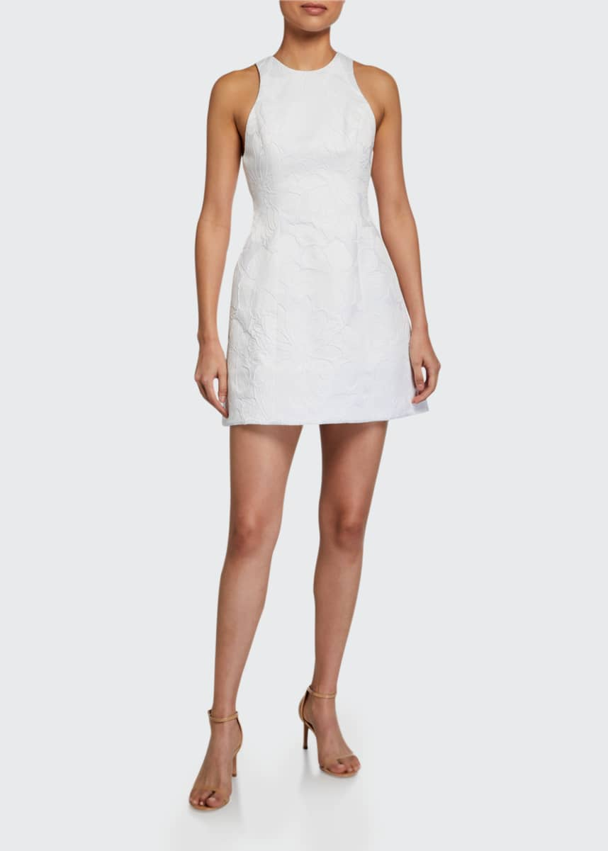 Alice + Olivia Coralia Open-Back Lantern Dress