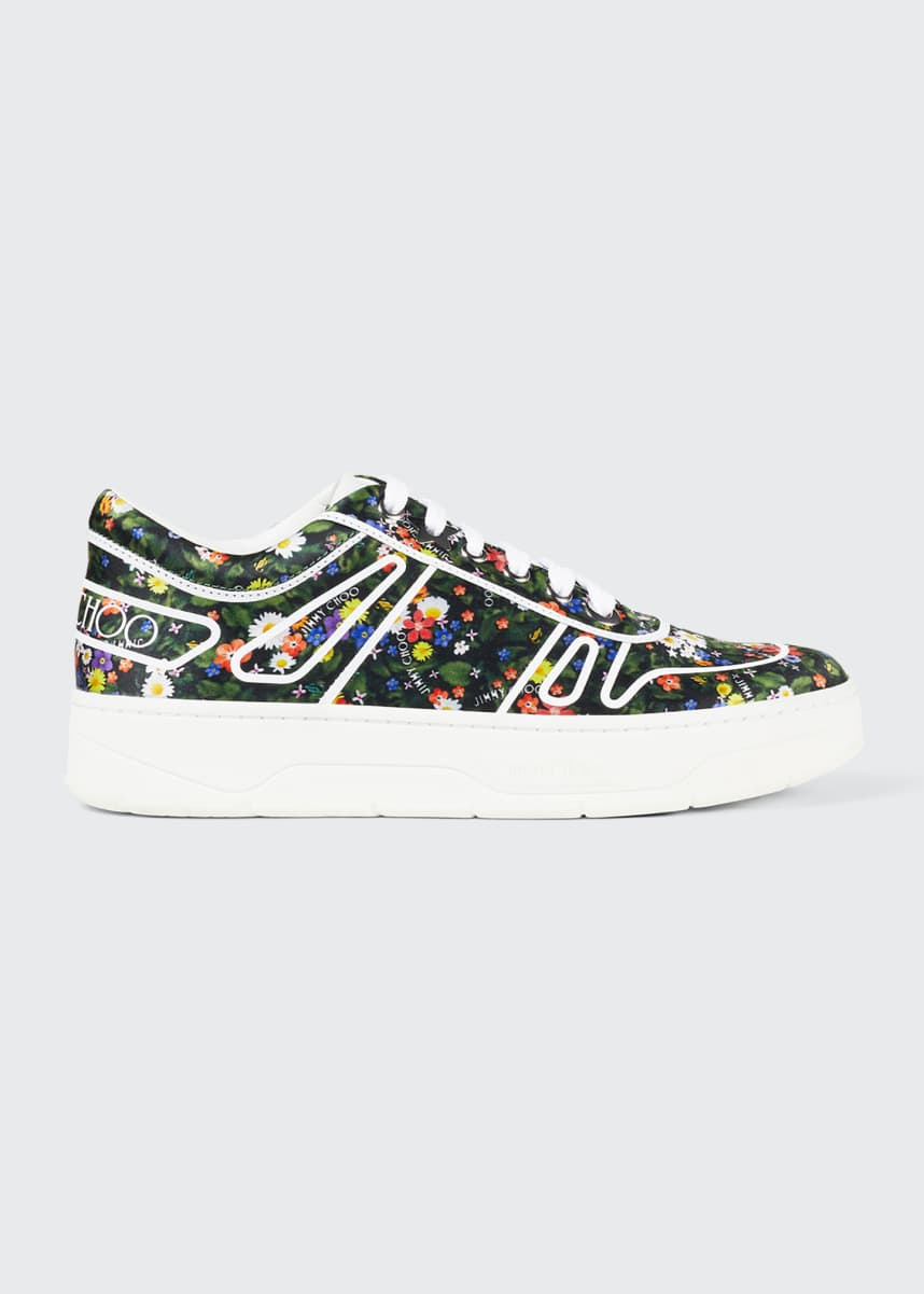 Jimmy Choo Hawaii Floral Sneakers
