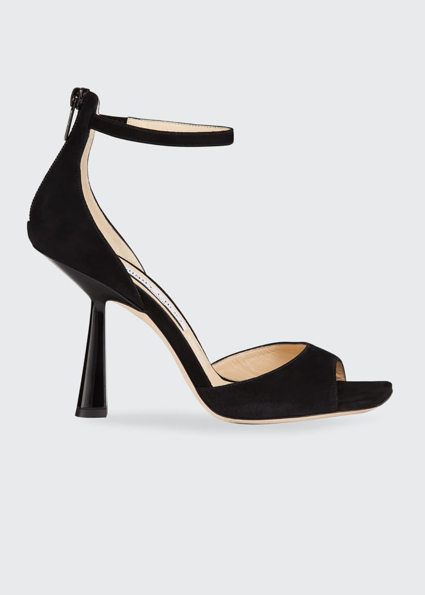 Jimmy Choo 100mm Reon Suede Sandals