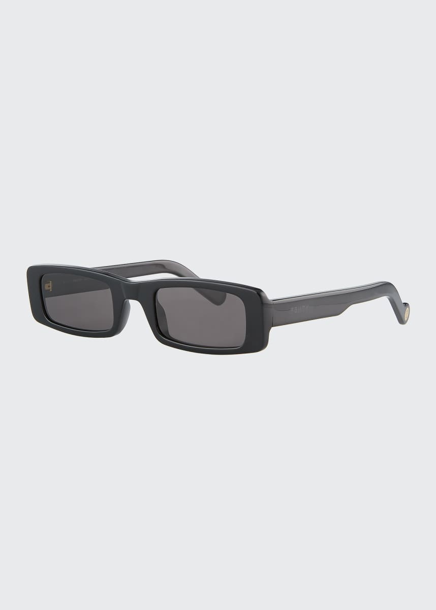 Fenty Trouble Slim Rectangle Acetate Sunglasses