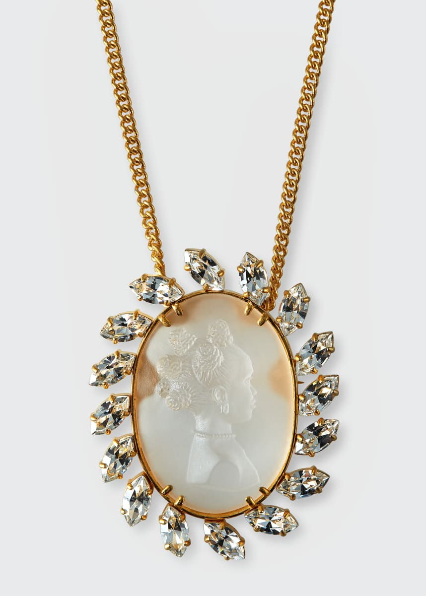 Fenty Crystal Cameo Pendant Necklace