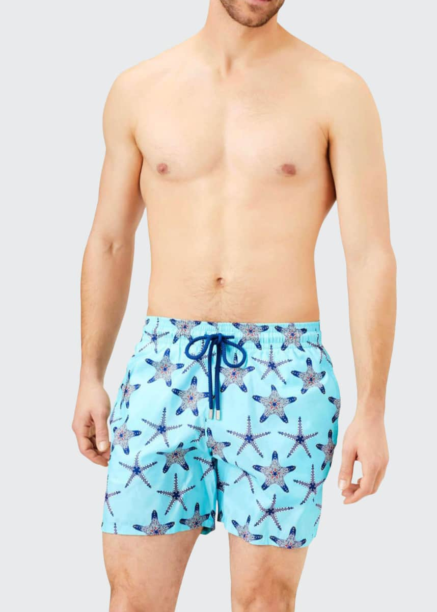 Vilebrequin Men's Mahina Starfish Print Swim Trunks
