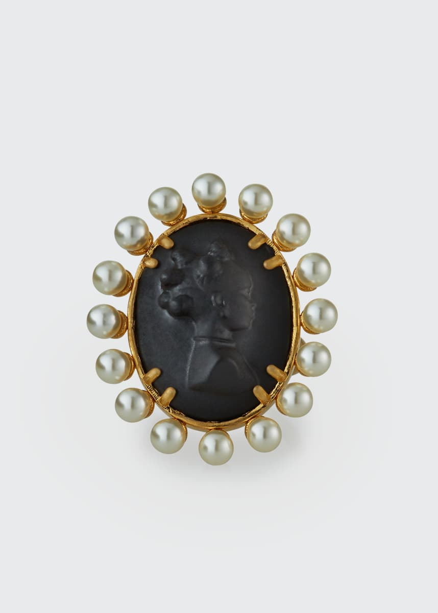 Fenty Cameo Ring, Black, Size 5.5, 7 and 9