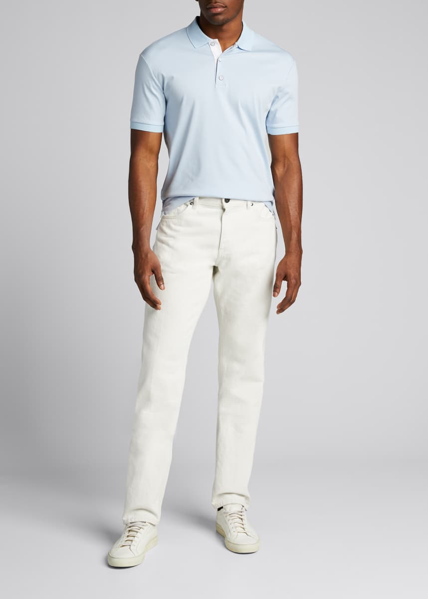 Rag & Bone Men's Interlock Cotton Polo Shirt
