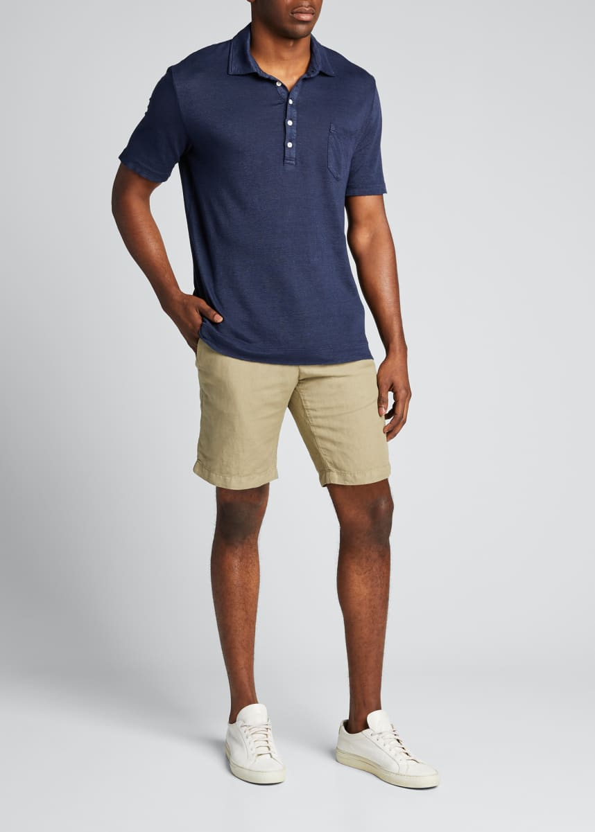 Massimo Alba Men's Linen-Blend Chino Shorts