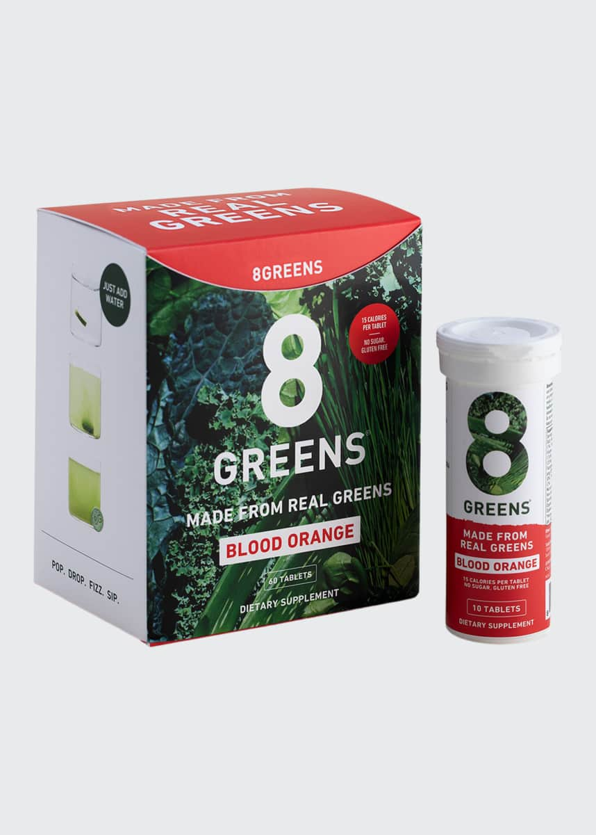 8 Greens Orange Tablets, 6 Pack Box