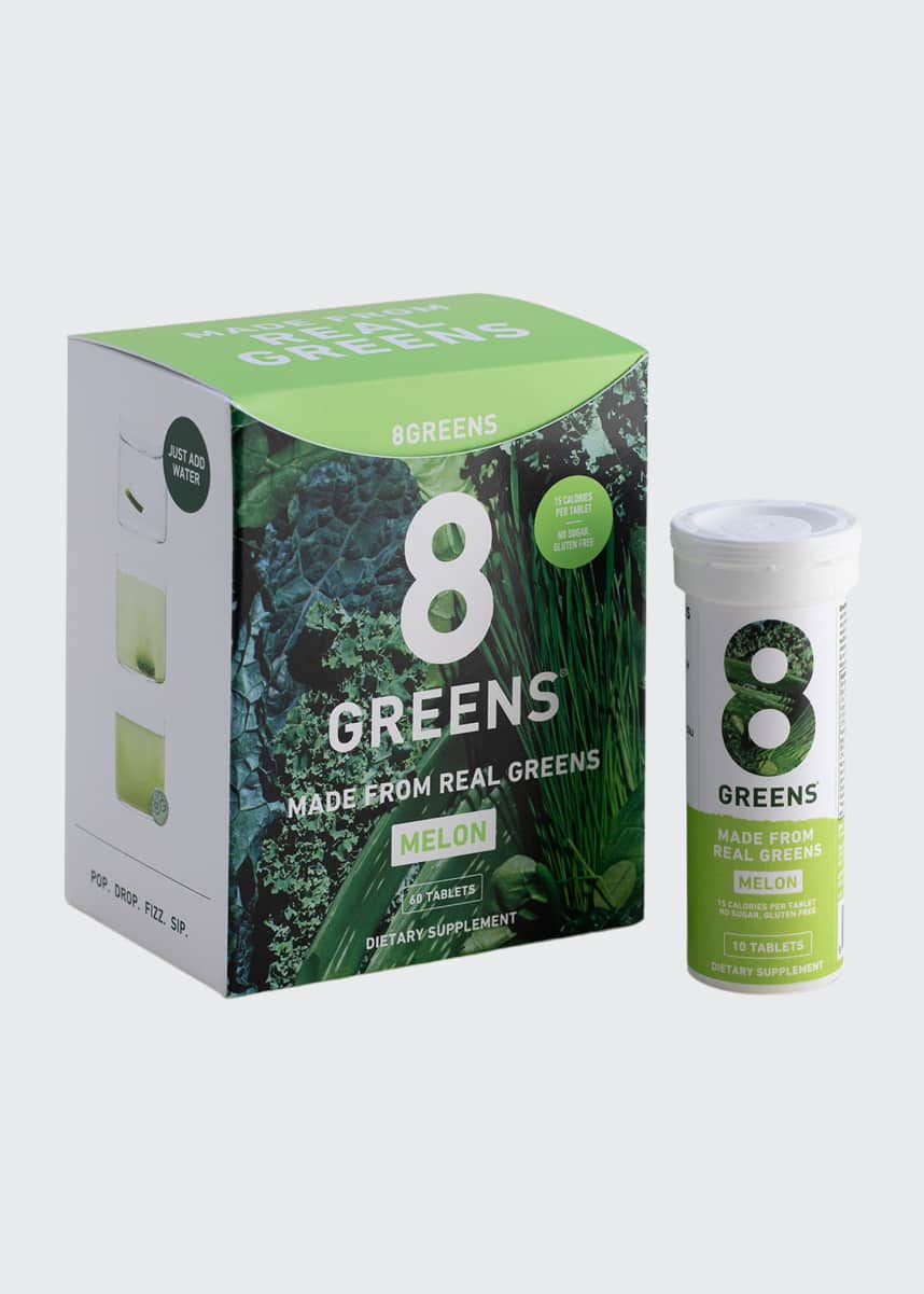 8 Greens Melon Tablets, 6 Pack