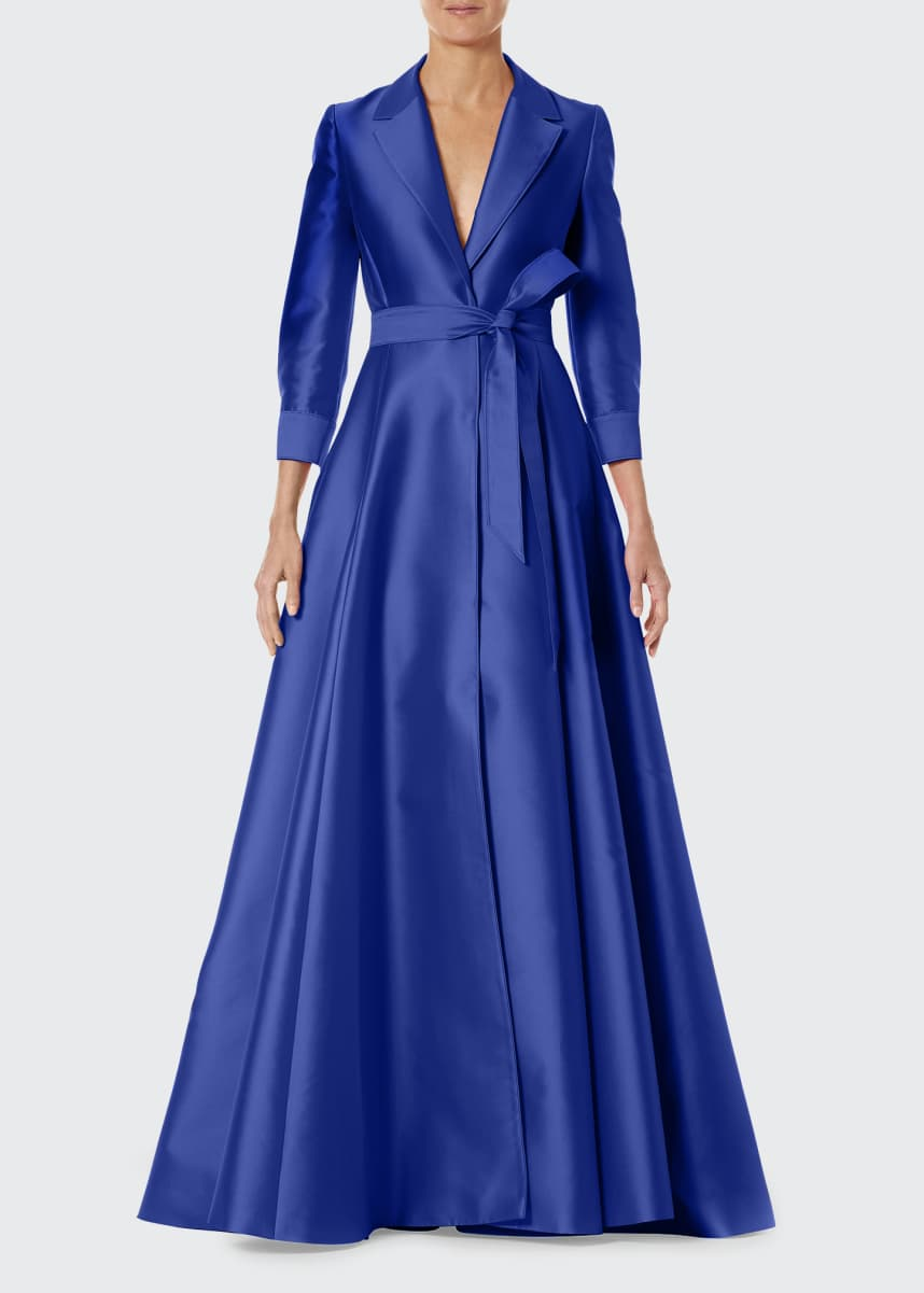 Carolina Herrera 3/4-Sleeve Suit Gown