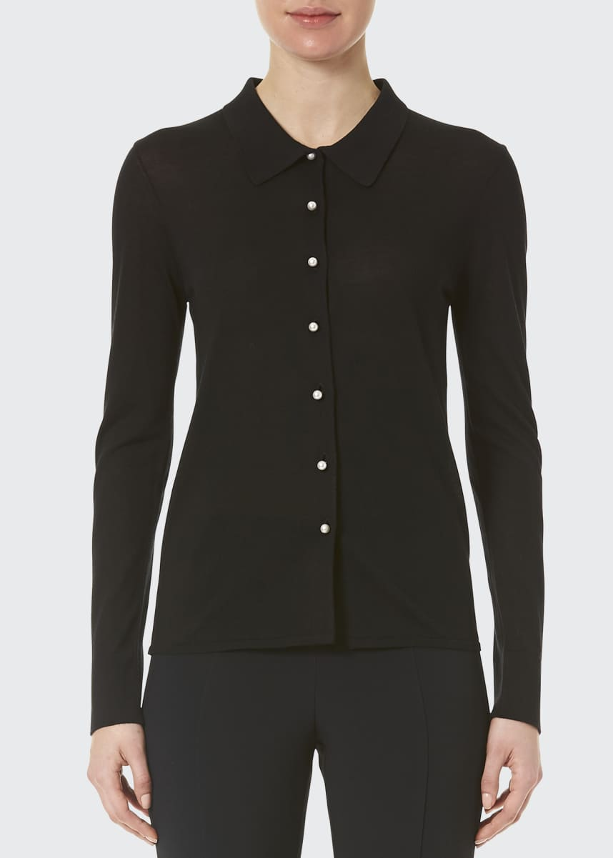 Carolina Herrera Knit Button-Down Shirt