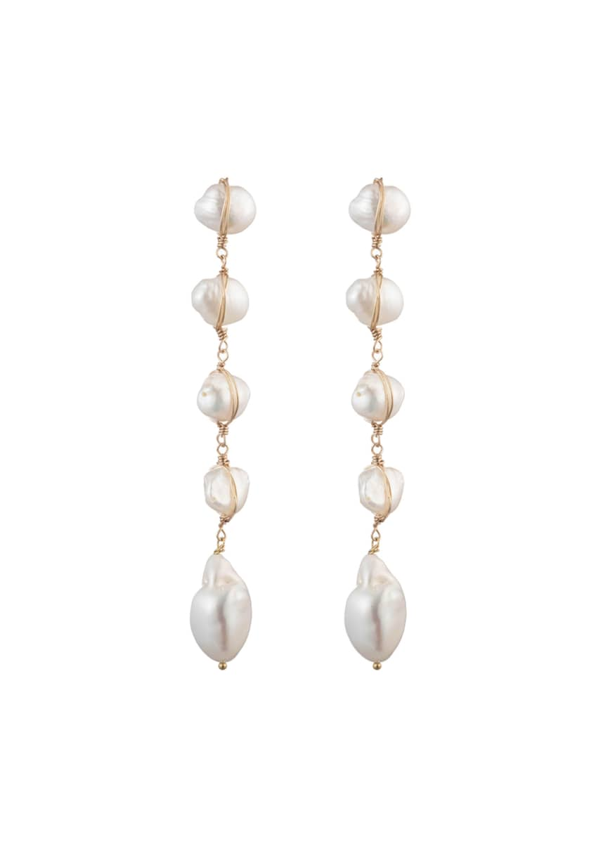 Dannijo Pari Pearl Dangle Earrings