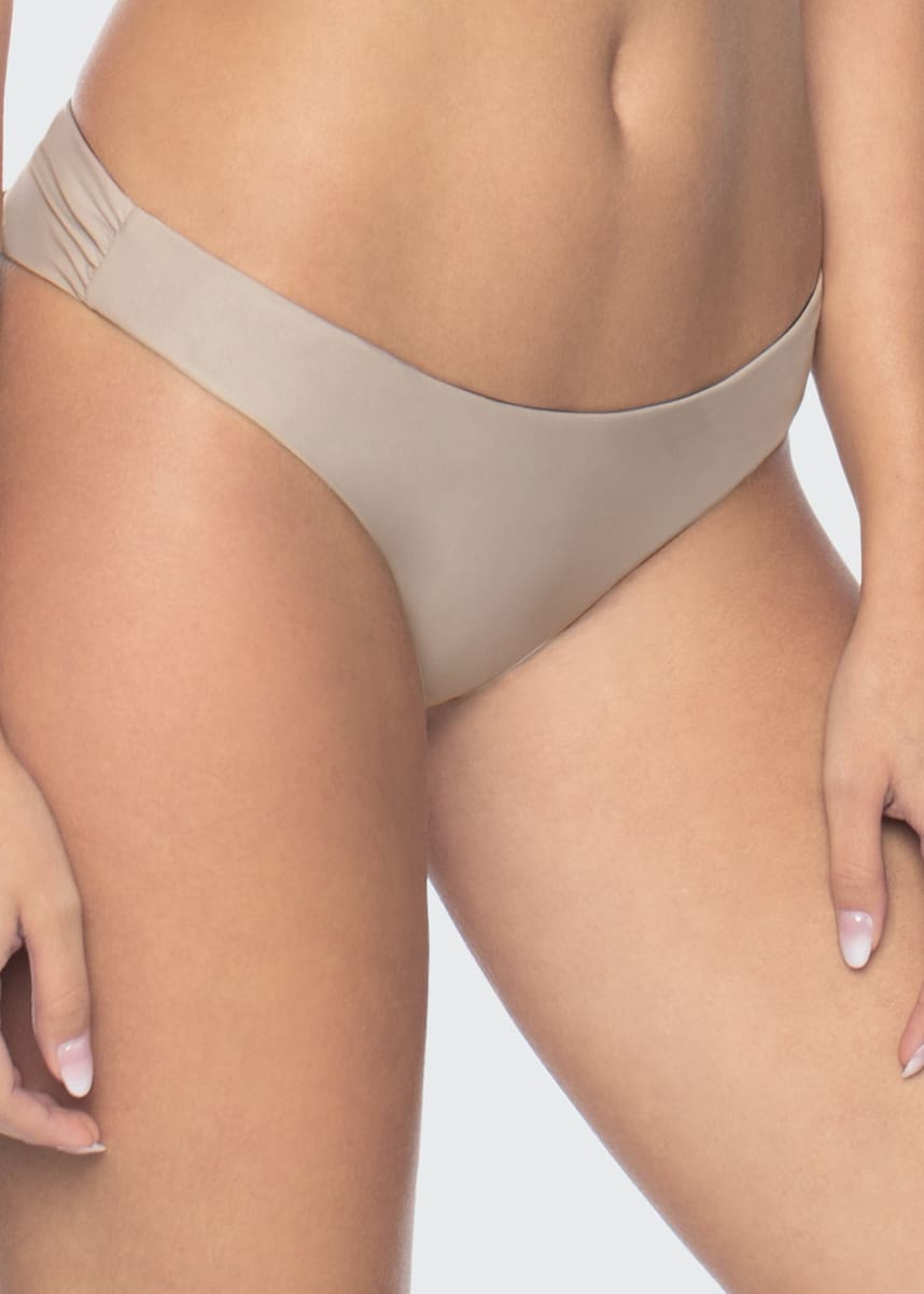 PQ Swim Basic Ruched Full Bikini Bottom