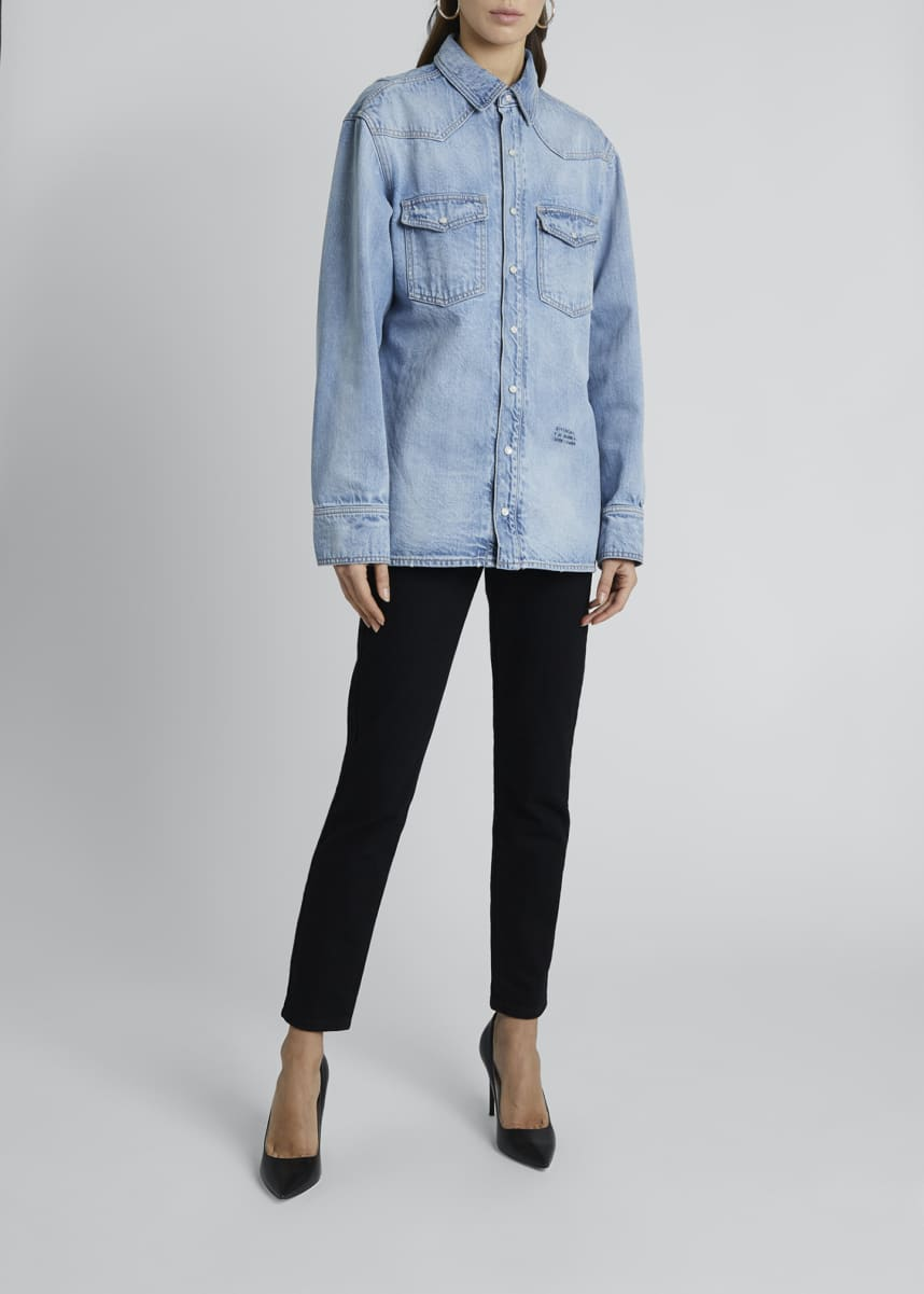 Givenchy Oversized Denim Shirt