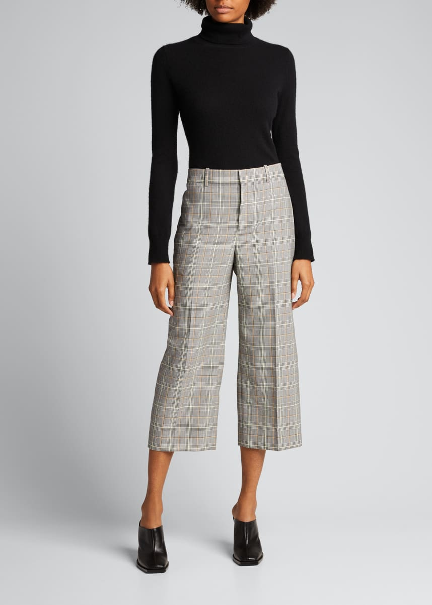 Givenchy Plaid Cropped Trousers