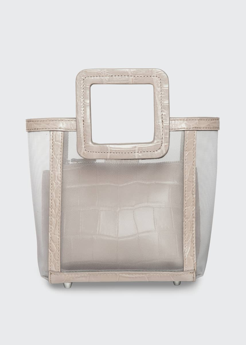 Staud Shirley Mini Mesh Square-Handle Tote Bag