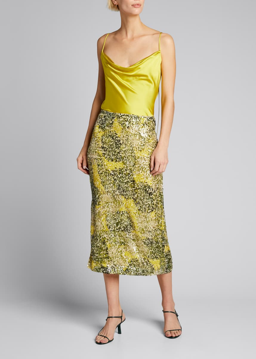 Prabal Gurung Cowl-Neck Silk Cami