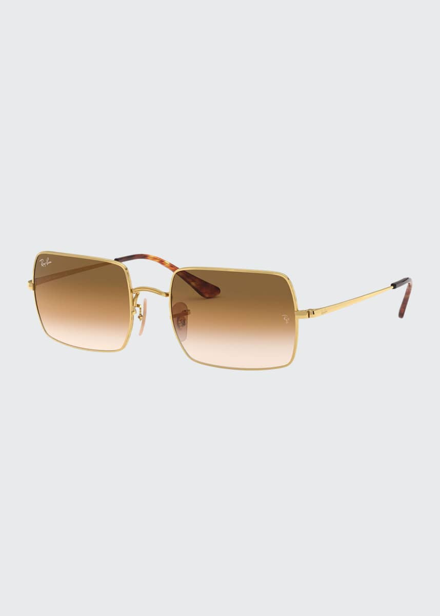 Ray-Ban Rectangle Gradient Metal Sunglasses