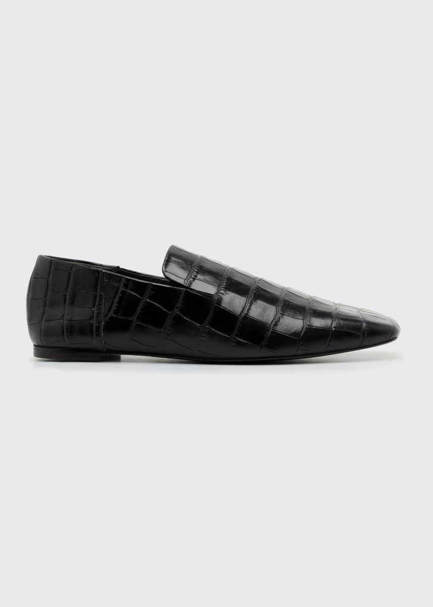 Mercedes Castillo Eugenie Mock-Croc Flat Loafers