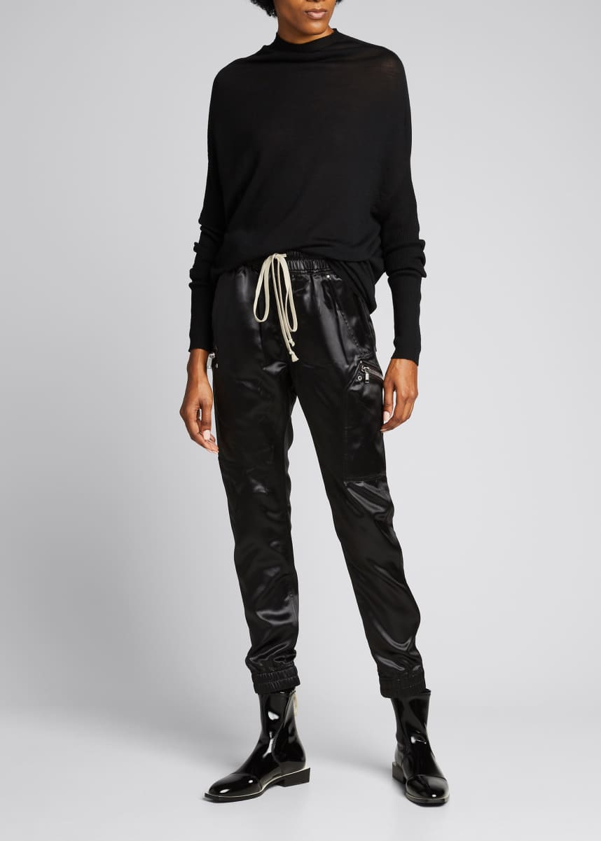 Rick Owens Liquid Latex Drawstring Joggers
