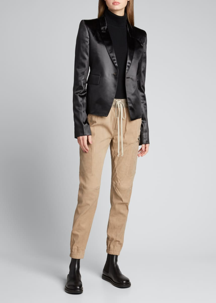 Rick Owens Liquid Latex One-Button Blazer