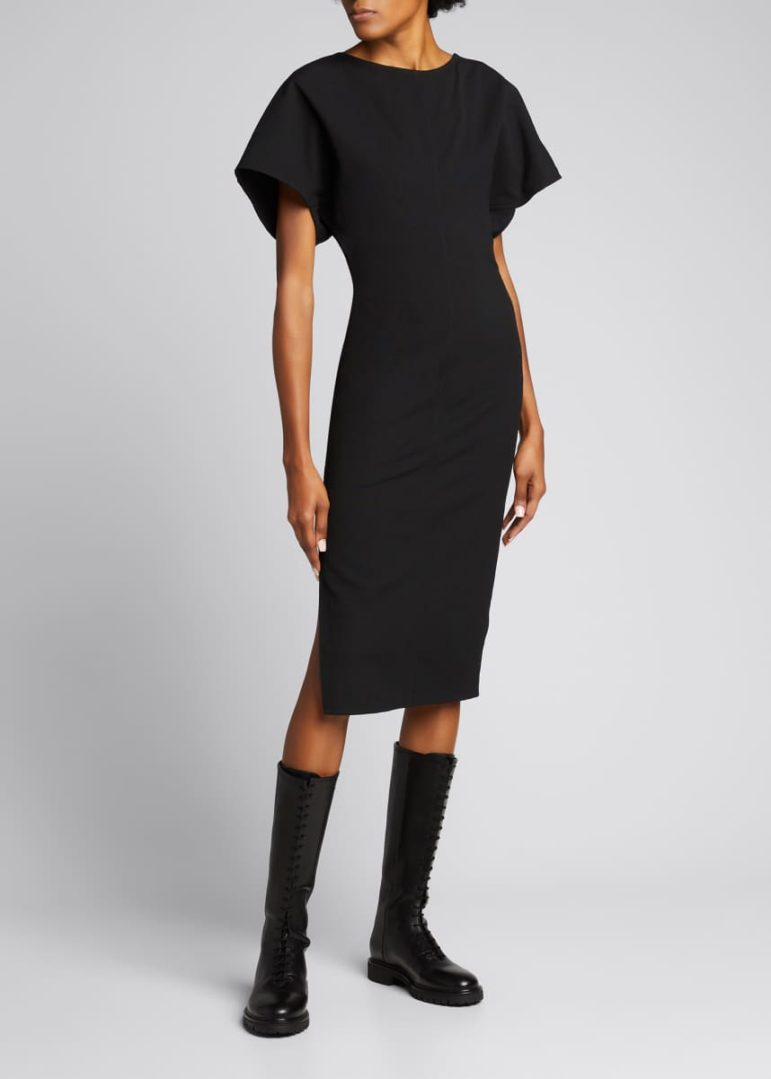 Rick Owens Grosgrain Sheath Midi Dress