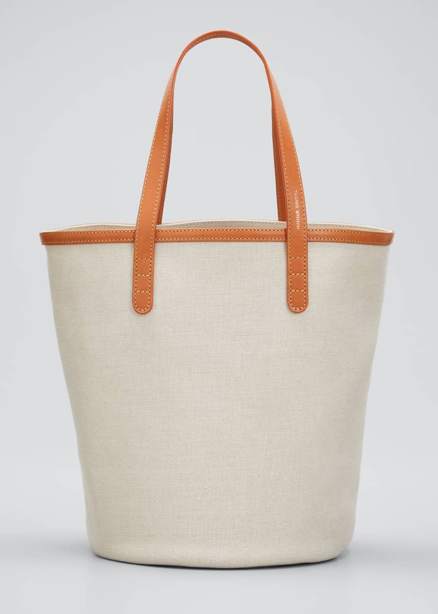 Mansur Gavriel Mini Italian Canvas Circle Bucket Bag