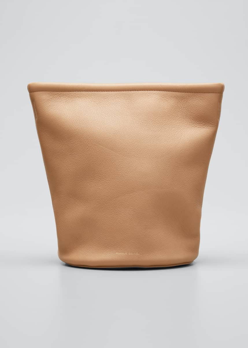 Mansur Gavriel Leather Zip Bucket Bag