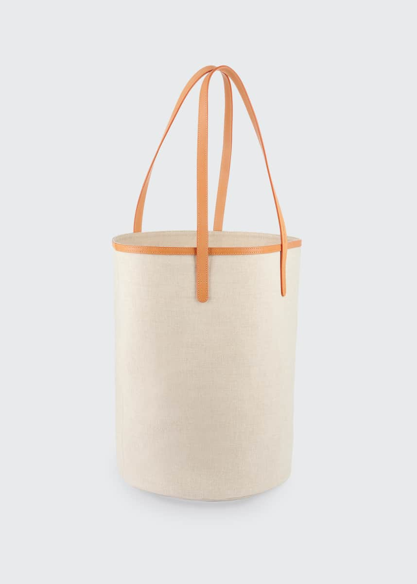 Mansur Gavriel Italian Canvas Circle Bucket Bag