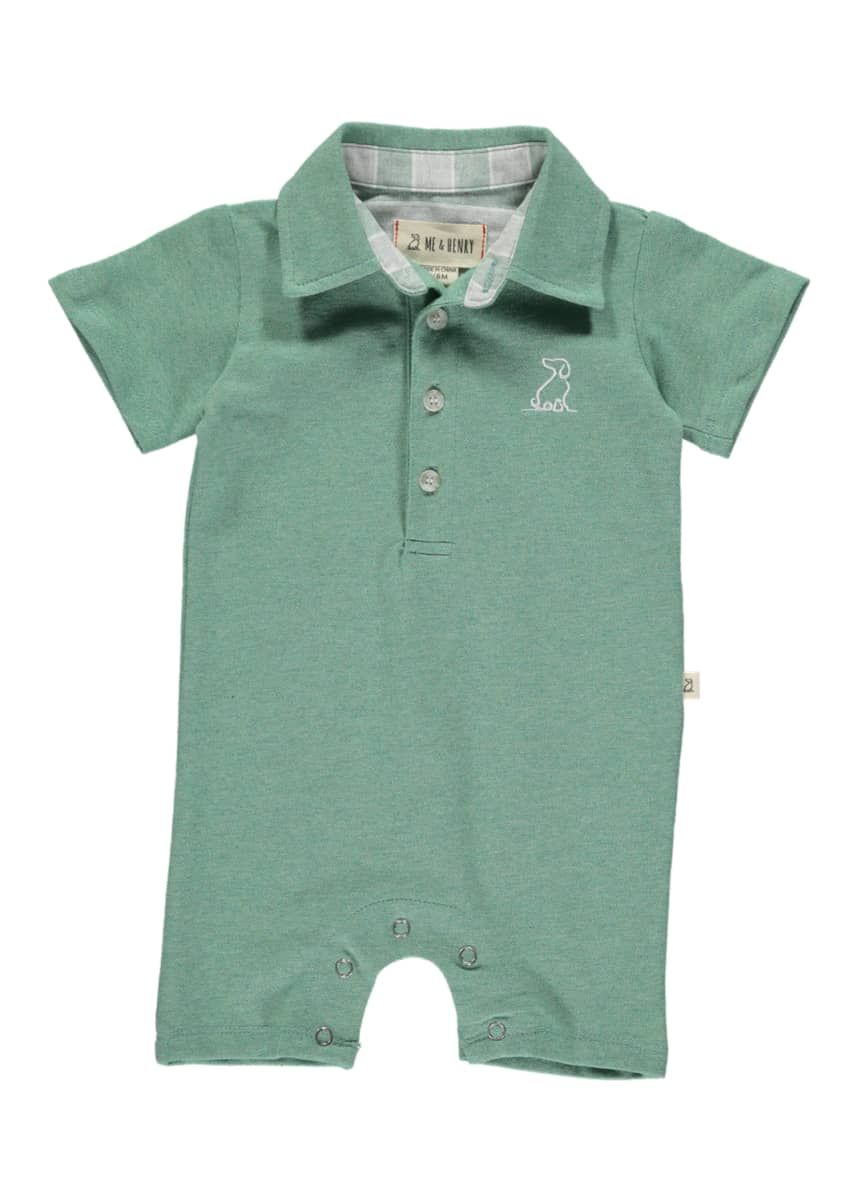 Me & Henry Boy's Cotton Piquet Polo Shortall w/ Children's Book, Size 6-24 Months
