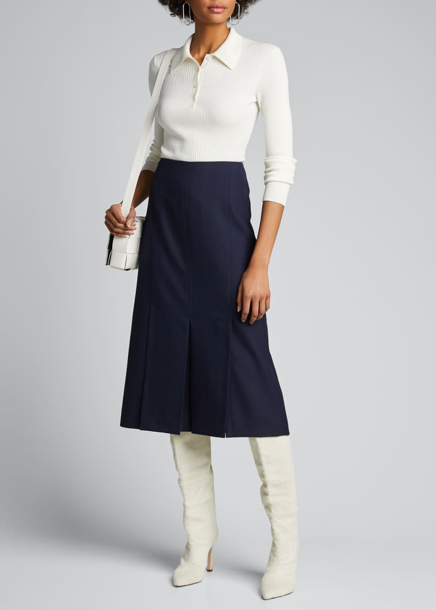 Jason Wu Box Pleated Midi Skirt