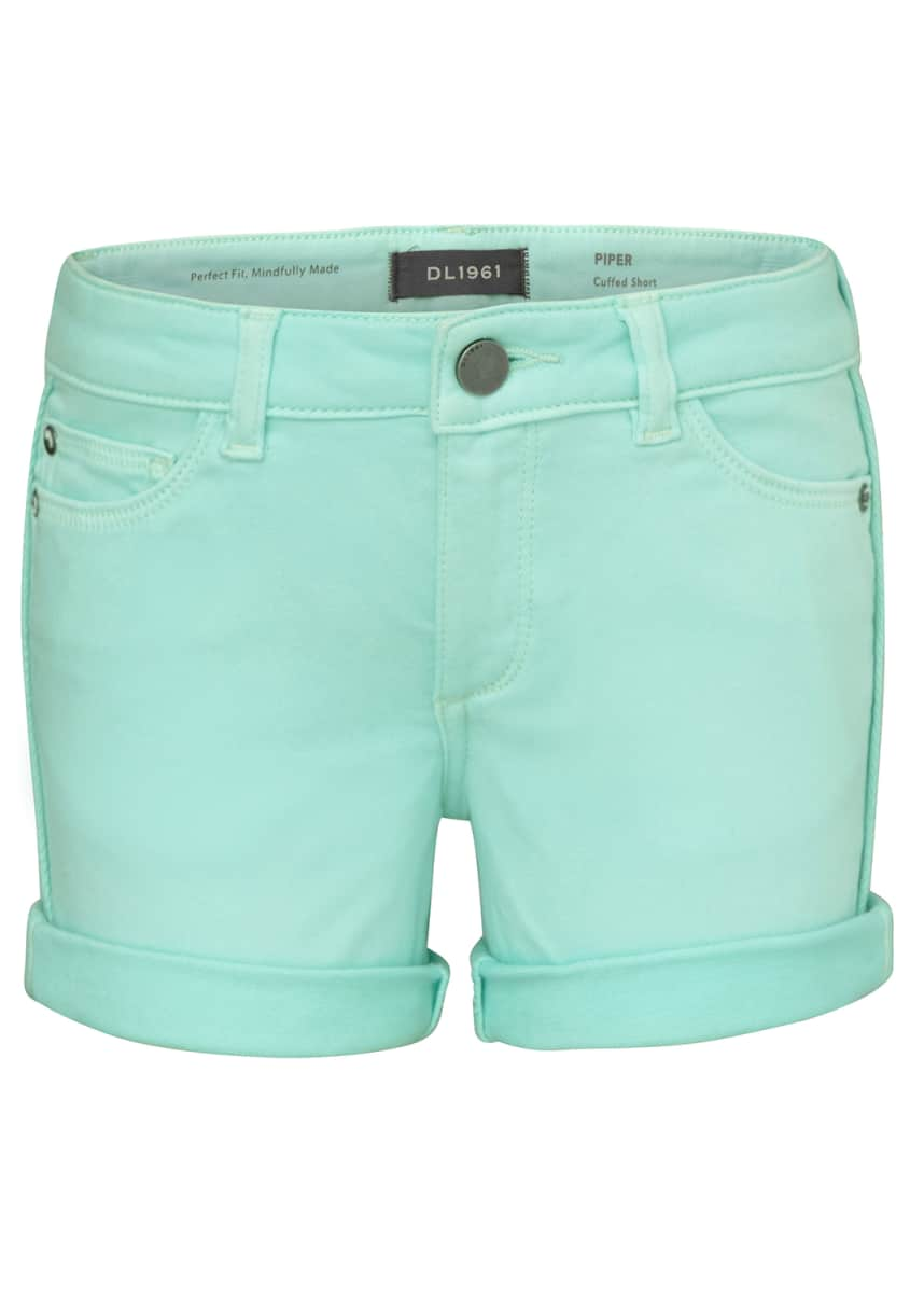 DL1961 Premium Denim Girl's Piper Cuffed Shorts, Size 7-16