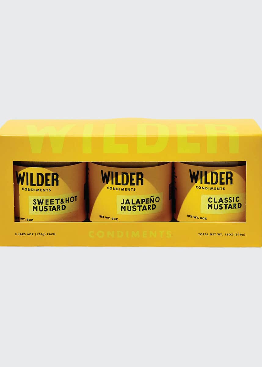Wilder Condiments Mustard Trio