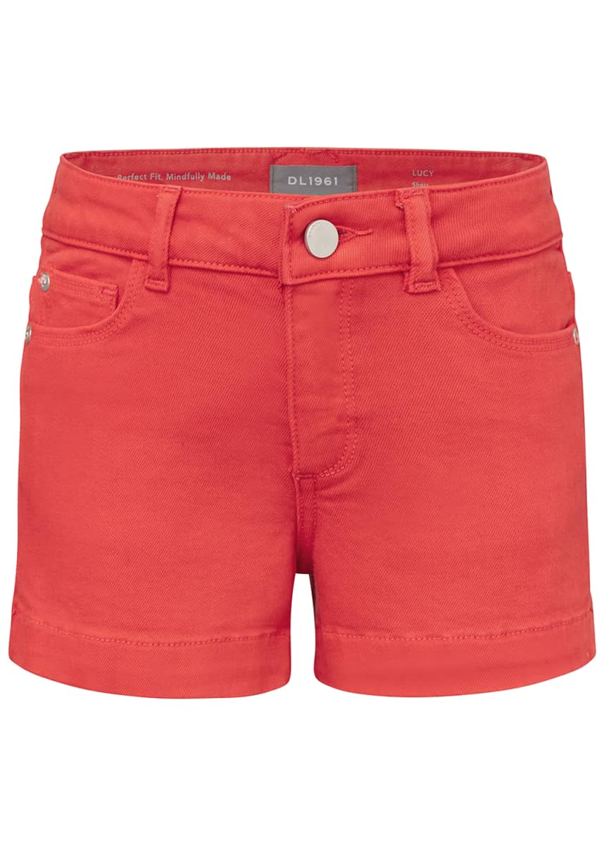 DL1961 Premium Denim Girl's Lucy Denim Shorts, Size 7-16