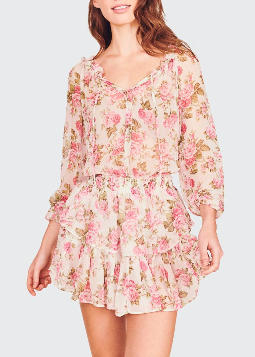 LoveShackFancy Elastic-Waist Popover Dress