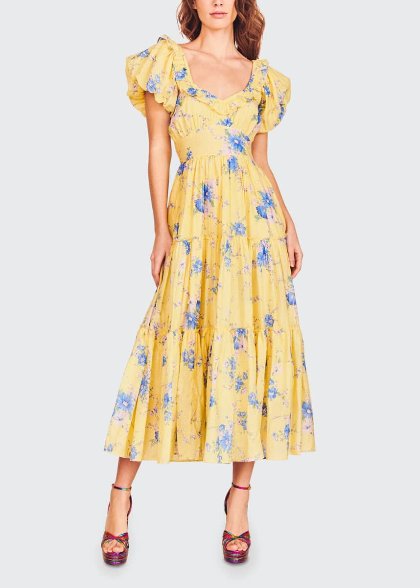 LoveShackFancy Emory Floral Tiered Dress