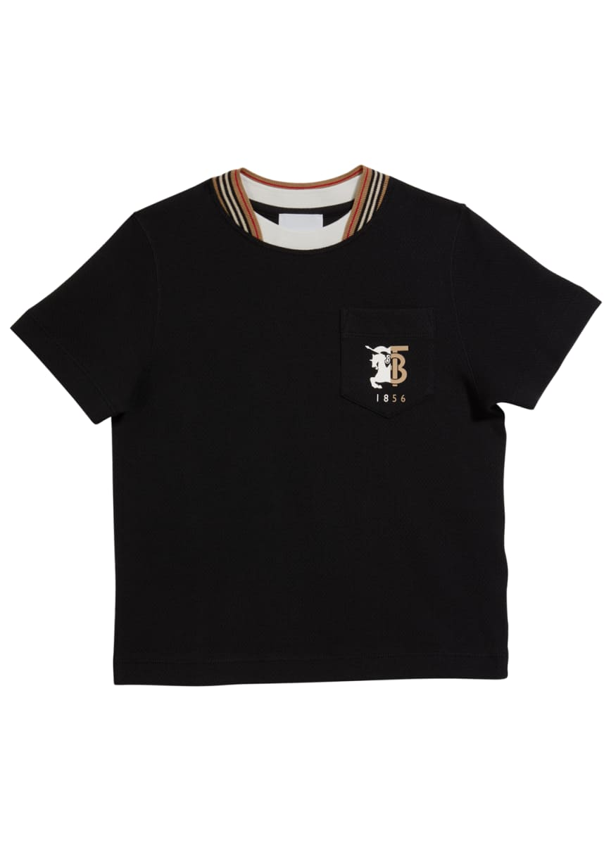 Burberry Boy's Carlos Piquet Tee, Size 3-14