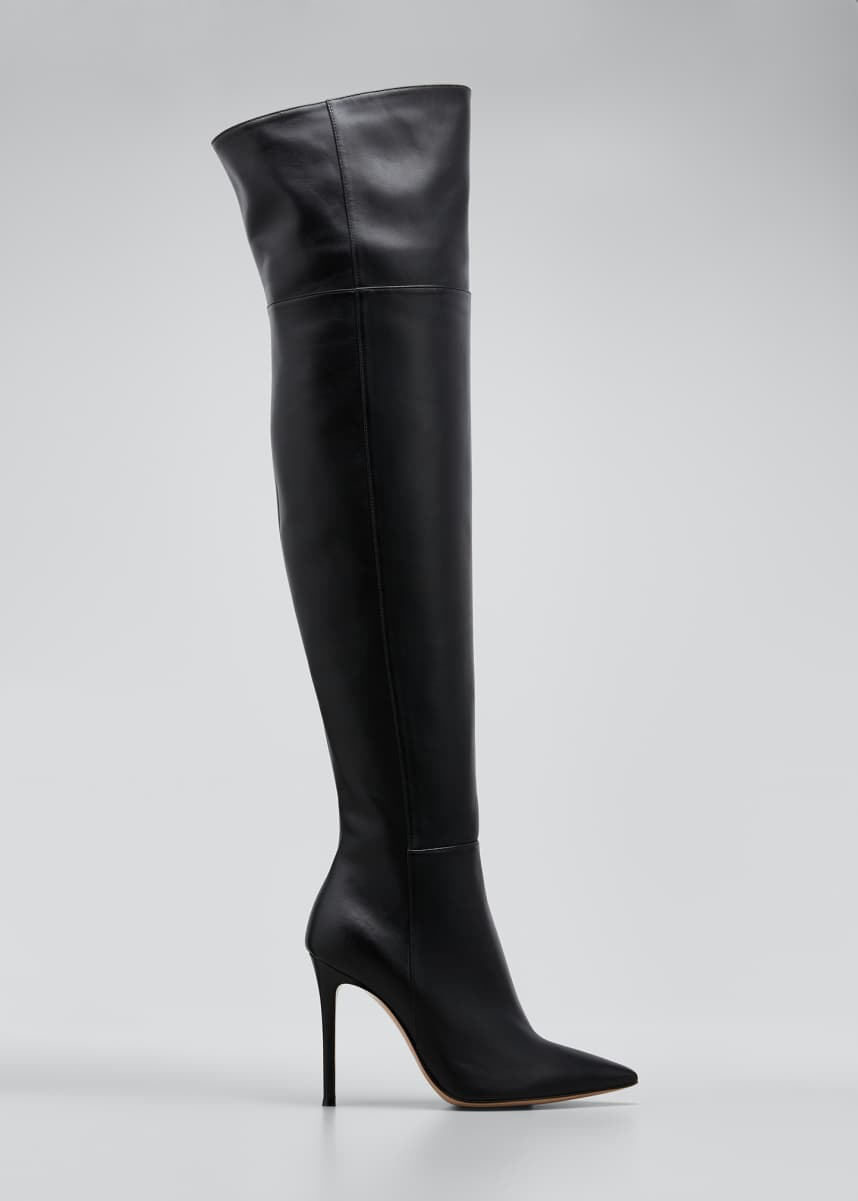 Gianvito Rossi 105mm Napa Point-Toe Over-the-Knee Boot