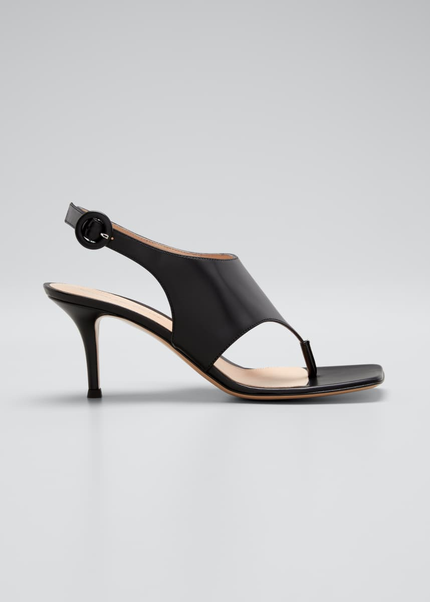 Gianvito Rossi 70mm Napa Slingback Thong Sandals
