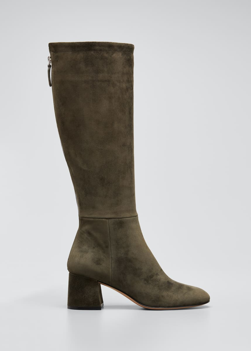 Gianvito Rossi 60mm Suede Tall Zip Boots