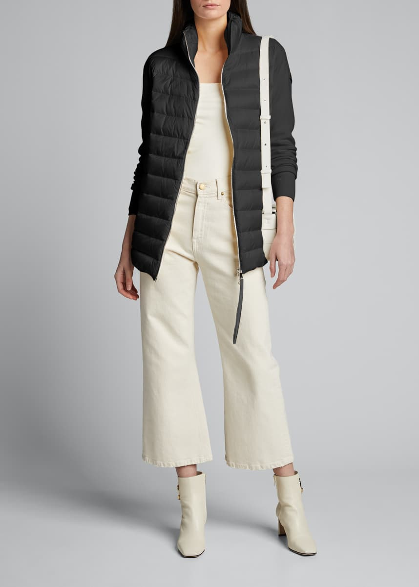 Moncler Long-Sleeve Down Cardigan
