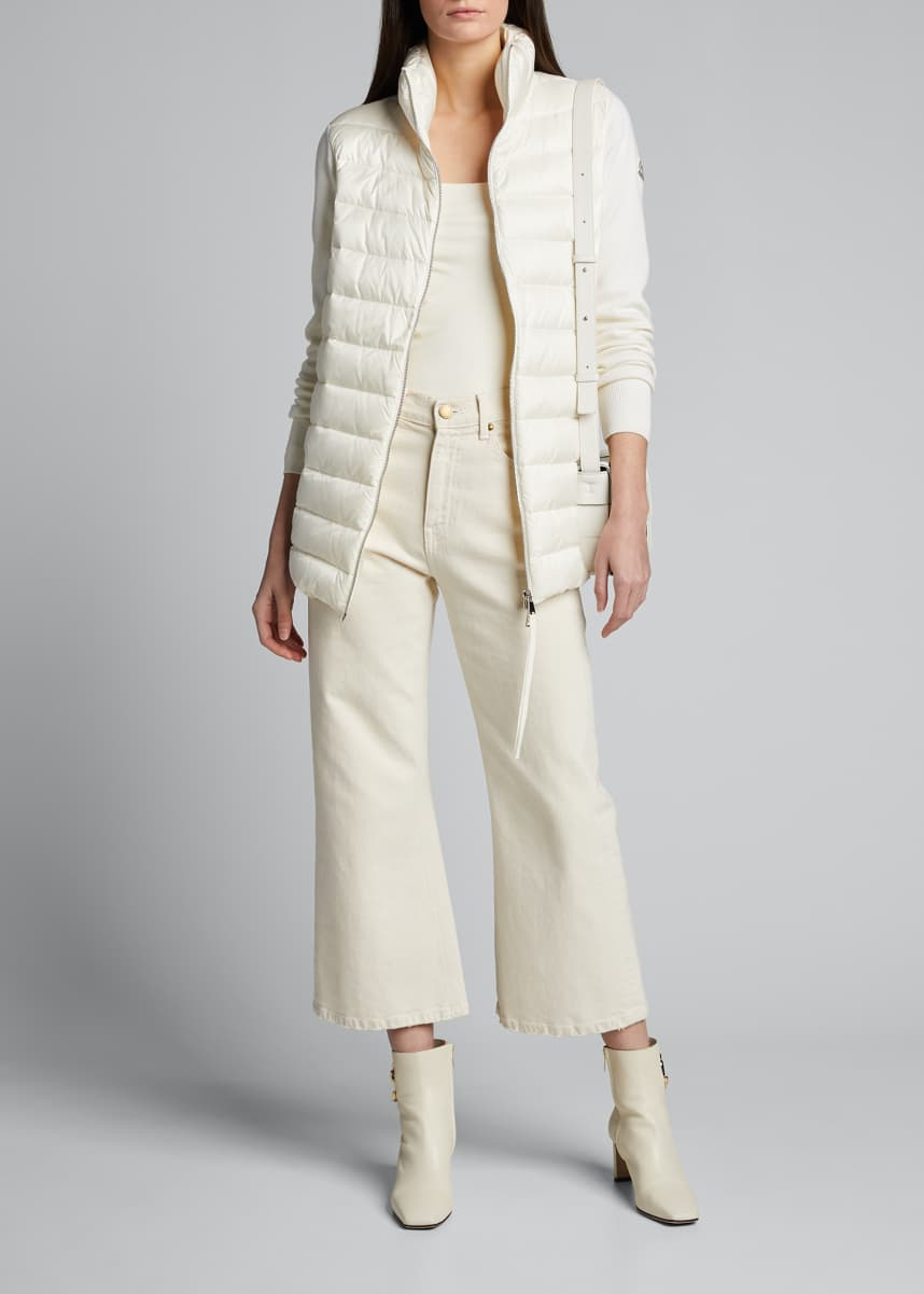 Moncler Basic Long-Sleeve Down Cardigan